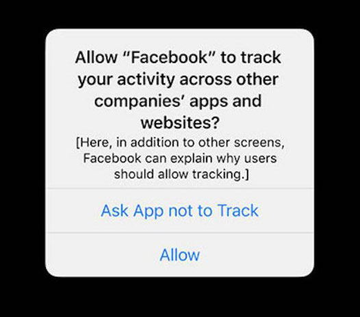 iOS 14 Privacy Tracker Prompt